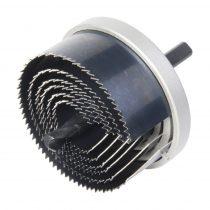 Wolfcraft Standard körkivágó/lyukfűrész készlet, 6 méret, fém házas, 25–65 / 23 mély