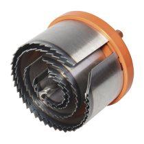Wolfcraft 2220000 Profi körkivágó/lyukfűrész készlet, 5 méret, fém házas, 28–75 mm / 40 mm mély