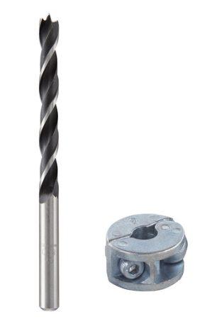 Wolfcraft Központosított fafúró/csapfúró, extra mélységütközővel, 6 mm