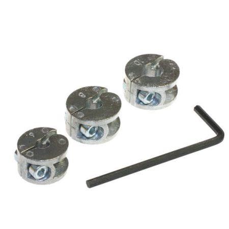 Wolfcraft Mélységbeállító/mélységütköző szett fúróhoz, 6–8–10 mm, Extra|2755000|
