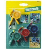Wolfcraft Microfix S 20 mini rugós szorító, tapadókoronggal, 4 db|3663000|