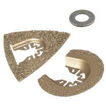 Wolfcraft Vágó- és csiszolókészlet rezgőkéses gépekhez, HM, kő/csempe |3993000|