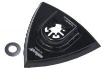 Wolfcraft 3996000 Tépőzáras háromszögű deltacsiszoló talp, oszcilláló, rezgőkéses, vibrációs gépekhez,a piacon kapható összes típushoz, (kivéve Bosch Starlock gépek)