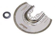 Wolfcraft 3997000 Gyémánt szegmens tárcsa, 85 mm, oszcilláló, rezgőkéses, vibrációs gépekhez, a piacon kapható összes típushoz, (kivéve Bosch Starlock gépek)