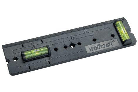 Wolfcraft Csatlakozóaljzat-jelölő sablon, vízszintezővel|4050000|