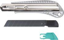 Wolfcraft Letörhető pengés kés, 18 mm, fekete pengés, fémházas