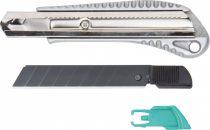 Wolfcraft Letörhető pengés kés, 18 mm, fekete pengés, fémházas|4306000|