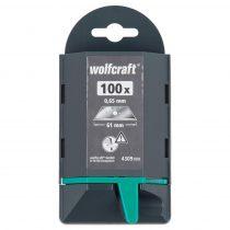 Wolfcraft Profi trapézpenge, 0.65 x 61 mm, 100 db|4309000|