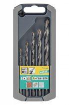 Wolfcraft Kőfúró készlet 5 részes, HM, hatszögszárú, ? 4,5,6,8,10 mm  7123000 