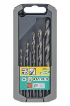 Wolfcraft Kőfúró készlet 5 részes, HM, hatszögszárú, ? 4,5,6,8,10 mm |7123000|