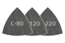 Wolfcraft 5db csiszolórács delta lap gipszkartonhoz és fához, tépőzáras, 95mm, SiC, K80,120,240  8469000 