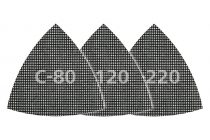 Wolfcraft 5db csiszolórács delta lap gipszkartonhoz és fához, tépőzáras, 95mm, SiC, K80,120,240 |8469000|