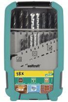 Wolfcraft Vegyes fúrószár készlet, 18 részes, dobozos |8615000|