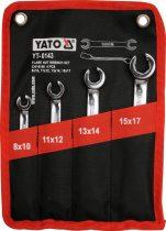 YATO Fékcsőkulcs készlet 4 részes 8-17 mm ipari CrV 6140