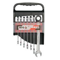 YATO Csillag-villás kulcs racsnis készlet 7 részes 10-19 mm CrV
