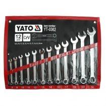 YATO Csillag-villás kulcs készlet 12 részes 8-24 mm CrV