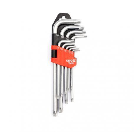 Yato YT-0511 Torx kulcs készlet 9 részes (T10-T50) CrV