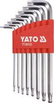 YATO Torx kulcs készlet 8 részes T9-T40 gömbfejű