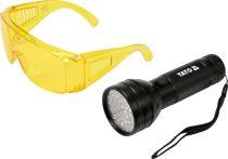 YATO UV zseblámpa 51LED + szemüveg