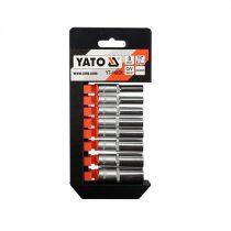 YATO Dugókulcs készlet 8 részes 5,5-13 hosszú 1/4 col