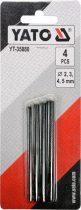 YATO Bőrlyukasztó készlet 4 részes 2-5 mm