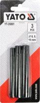 YATO Bőrlyukasztó készlet 3 részes 6-10 mm