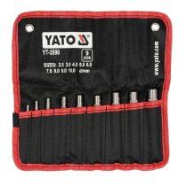 YATO Bőrlyukasztó készlet 9 részes 2,5-10 mm