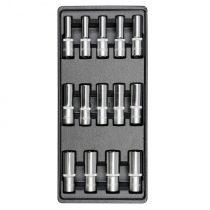 YATO Dugókulcs készlet 14 részes 1/2 col 8-21 mm hosszú (fiókbetét)