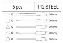 Yato YT-55453 Lakatos reszelő készlet 5 részes (fiókbetét)