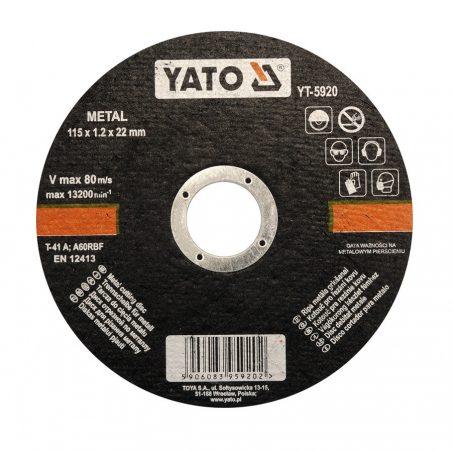 Yato YT-5920 Vágókorong fémre 115x1,2x22 YATO~ 1/5/25/200