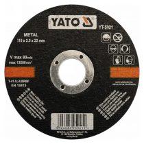 Yato YT-5921 Vágókorong fémre 115X2,5X22 1/5/25/200