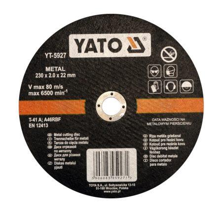 Yato YT-5927 Vágókorong fémre 230x2,0x22
