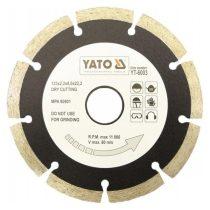 Yato Gyémánt vágótárcsa 125mm szegmentált