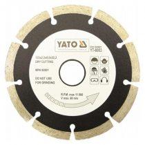 Yato YT-6003 Gyémánt vágótárcsa 125mm szegmentált