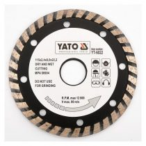Yato YT-6022 Gyémánt vágótárcsa 115mm turbo