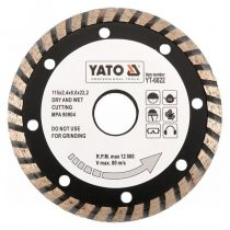 Yato YT-6023 Gyémánt vágótárcsa 125mm turbo