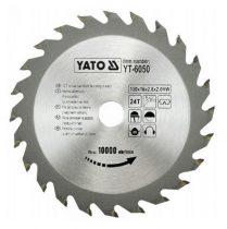 Yato YT-6050 Fűrésztárcsa fához 130x24x16 keményfémlapkás