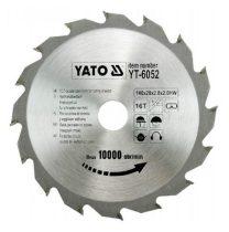 Yato YT-6052 Fűrésztárcsa fához 140x16x20 keményfémlapkás