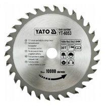 Yato YT-6053 Fűrésztárcsa fához 140x30x16 keményfémlapkás