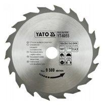 Yato YT-6055 Fűrésztárcsa fához 160x18x20 keményfémlapkás