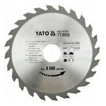 Yato YT-6056 Fűrésztárcsa fához 160x24x30 keményfémlapkás