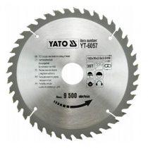 Yato YT-6057 Fűrésztárcsa fához 160x36x30 keményfémlapkás