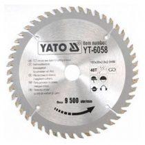 Yato YT-6058 Fűrésztárcsa fához 160x48x20 keményfémlapkás