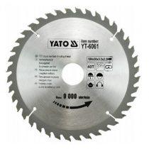 Yato YT-6061 Fűrésztárcsa fához 184x40x30 keményfémlapkás