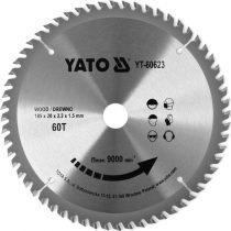 YATO Fűrésztárcsa fához 185 x 20 mm 60T
