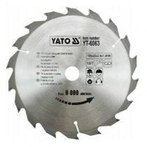 Yato Fűrésztárcsa fához 185x18x20 keményfémlapkás