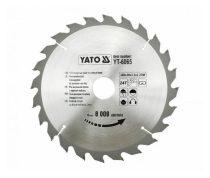 Yato YT-6066 Fűrésztárcsa fához 205x24x18 keményfémlapkás