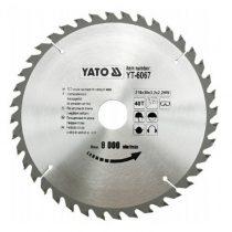 Yato YT-6067 Fűrésztárcsa fához 210x40x30 keményfémlapkás
