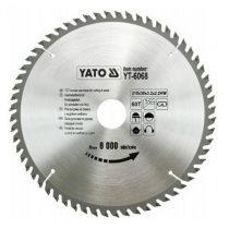 Yato YT-6068 Fűrésztárcsa fához 210x60x30 keményfémlapkás