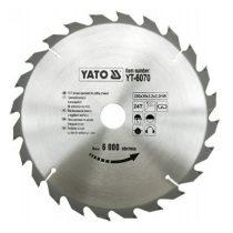 Yato YT-6070 Fűrésztárcsa fához 250x24x30 keményfémlapkás